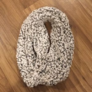 White and black infinity scarf